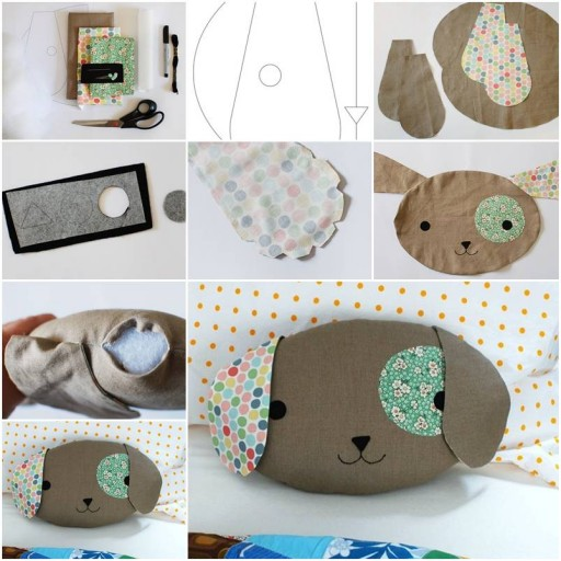 How To Make Cute Puppy Pillow step by step DIY tutorial instructions thumb