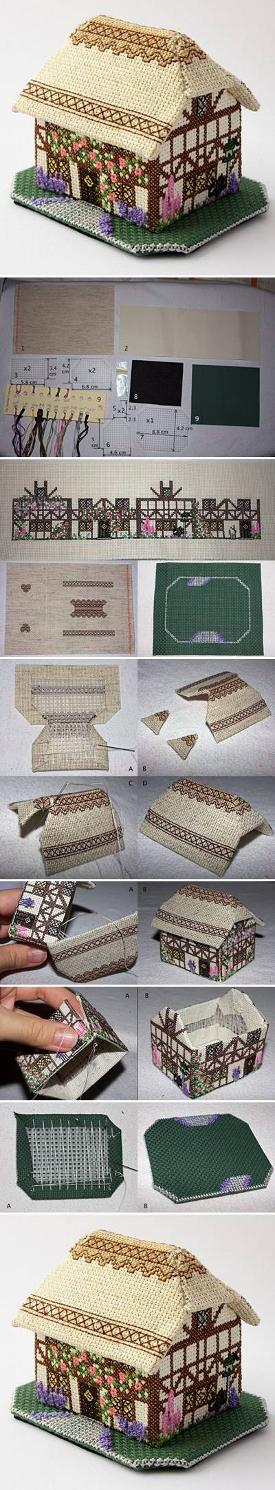 How To Make Decorative Fabric House step by step DIY tutorial instructions