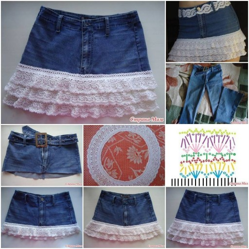 How To Make Easy Denim Skirt step by step DIY tutorial instructions thumb