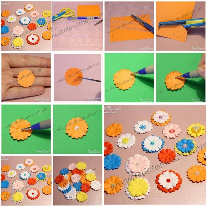 How to make easy paper flowers step by step diy tutorial for Handmade flowers for decoration step by step