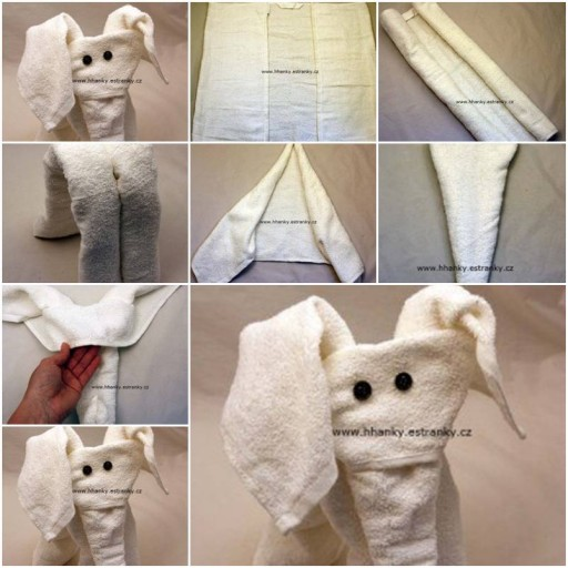 How To Make Easy Towel Elephant step by step DIY tutorial instructions thumb