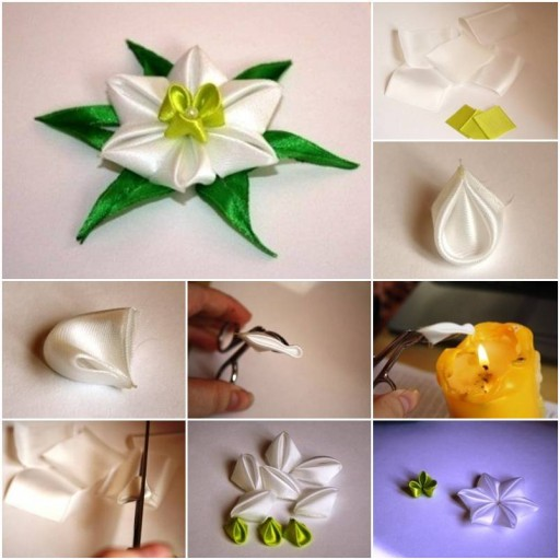 How To Make Fabric Daffodil Flowers so real as you buy from florist shops step by step DIY tutorial instructions thumb