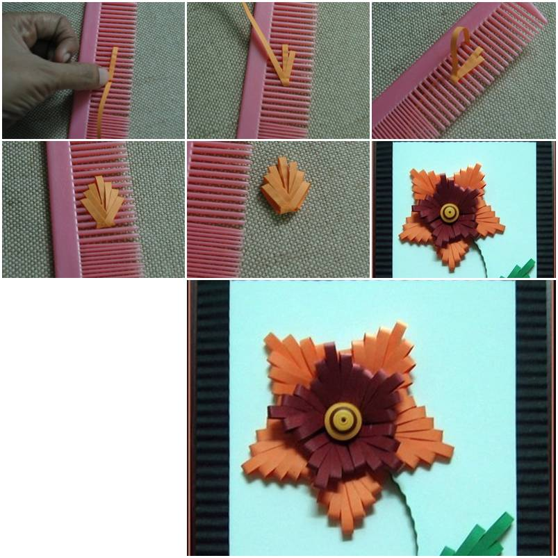 How To Make Beautiful Flowers With Hair Comb Step By DIY Tutorial Instructions Thumb