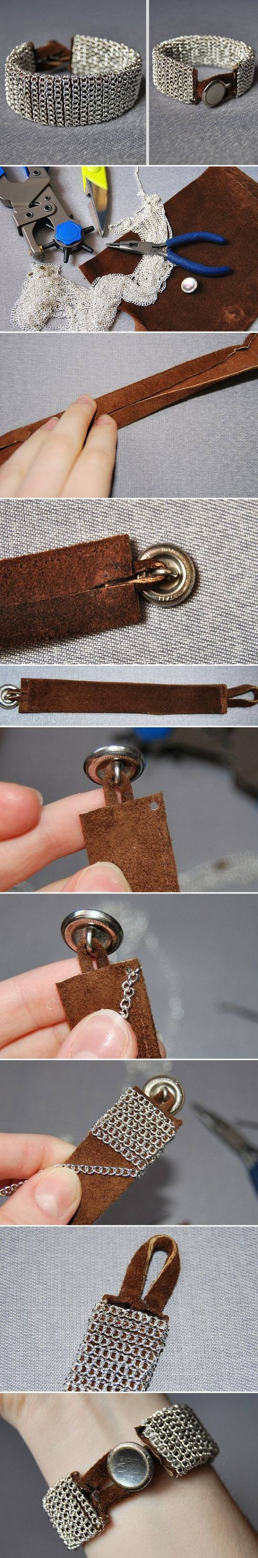 How To Make beautiful silver wrist bands step by step DIY tutorial instructions