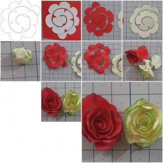Paper flower how to instructions part 2 how to make simple paper roses flowers step by step diy tutorial instructions mightylinksfo