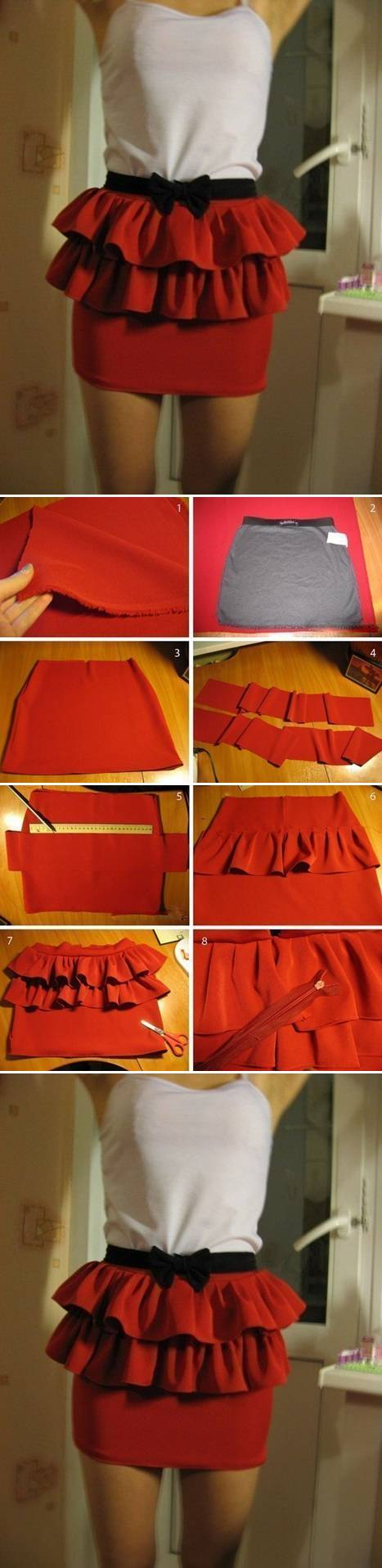 How To do simple Skirt Modification step by step DIY tutorial instructions