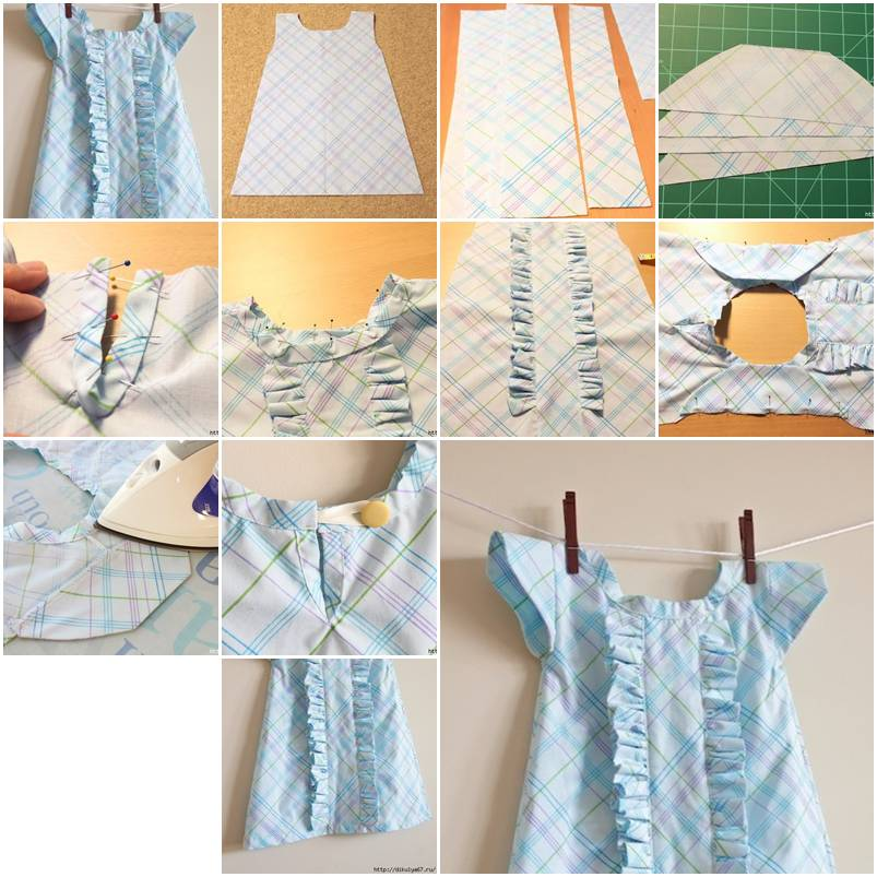 How To sew Baby clothes with Ruffles step by step DIY ...