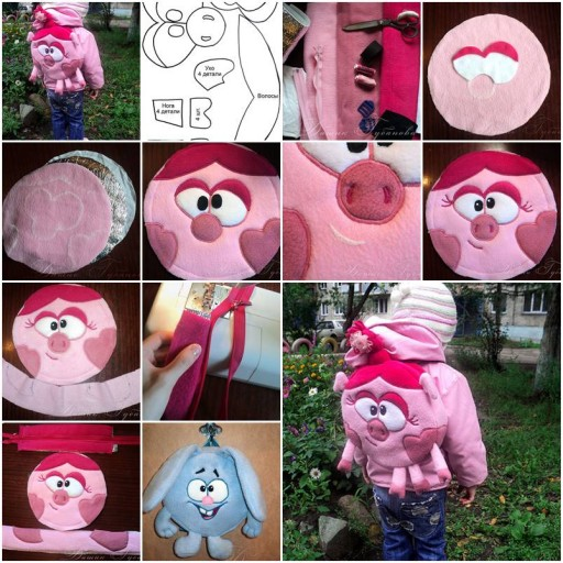 How To sew Cute custom kids Backpacks step by step DIY tutorial instructions thumb