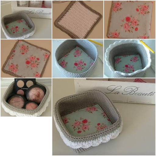 More DIY Ideas How To Knit Storage Boxes Step