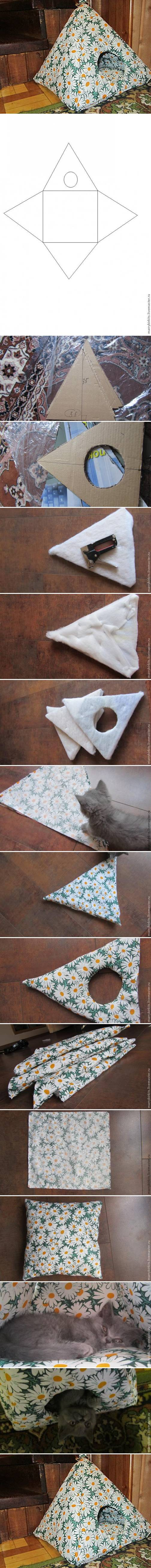 How to Make Cat house step by step DIY tutorial instructions
