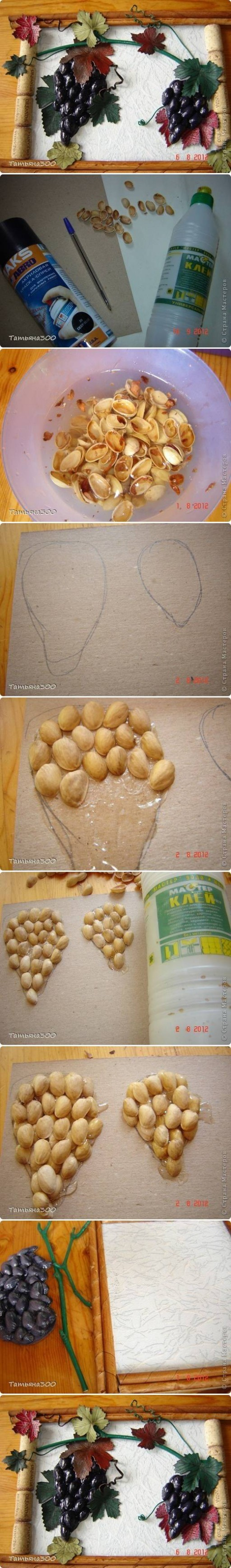 How to Make Grape Bunch of Pistachios step by step DIY tutorial instructions