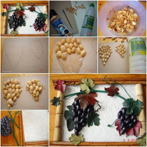 How to Make Grape Bunch of Pistachios step by step DIY tutorial instructions thumb