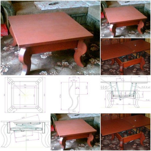 How to build 2 in 1 Dining and Magazine Table step by step DIY tutorial instructions thumb