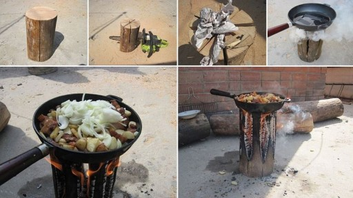 How to cook with a log stove step by step DIY tutorial instructions missed in culinary schoools