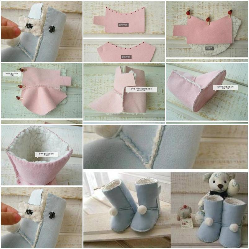 How To Design And Sew Kids Ugg Boots Step By DIY Tutorial Instructions Thumb