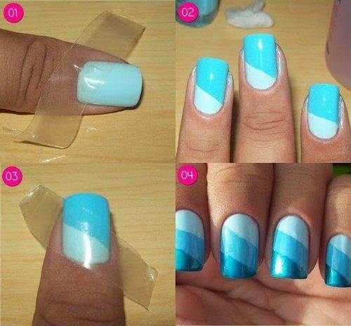 How to do cute nail art manicure makeup step by step DIY tutorial instructions