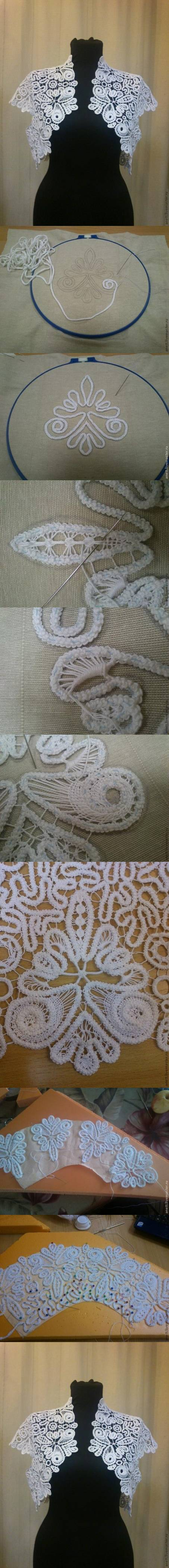 How to knit beautiful  Romanian Laces tops step by step DIY tutorial instructions