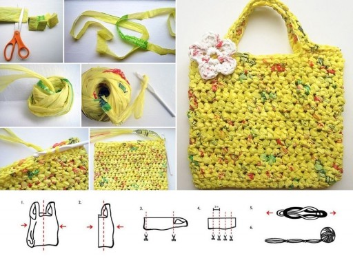 How to knit beautiful hand bag step by step DIY tutorial instructions