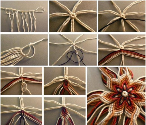 How to knit lovely flowers step by step DIY tutorial instructions