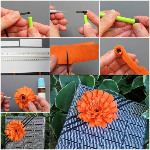 How to learn to make nice quilling paper flower arrangement from flower design school artists step by step DIY tutorial instructions thumb