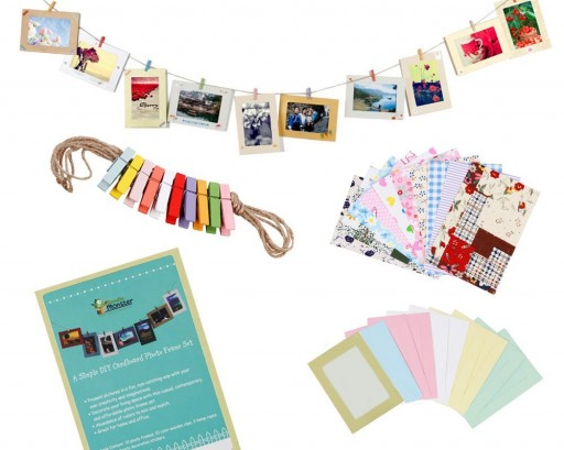 How to make Bundle Monster Wall Deco Paper Photo Frames with Mini Clothespins and Stickers