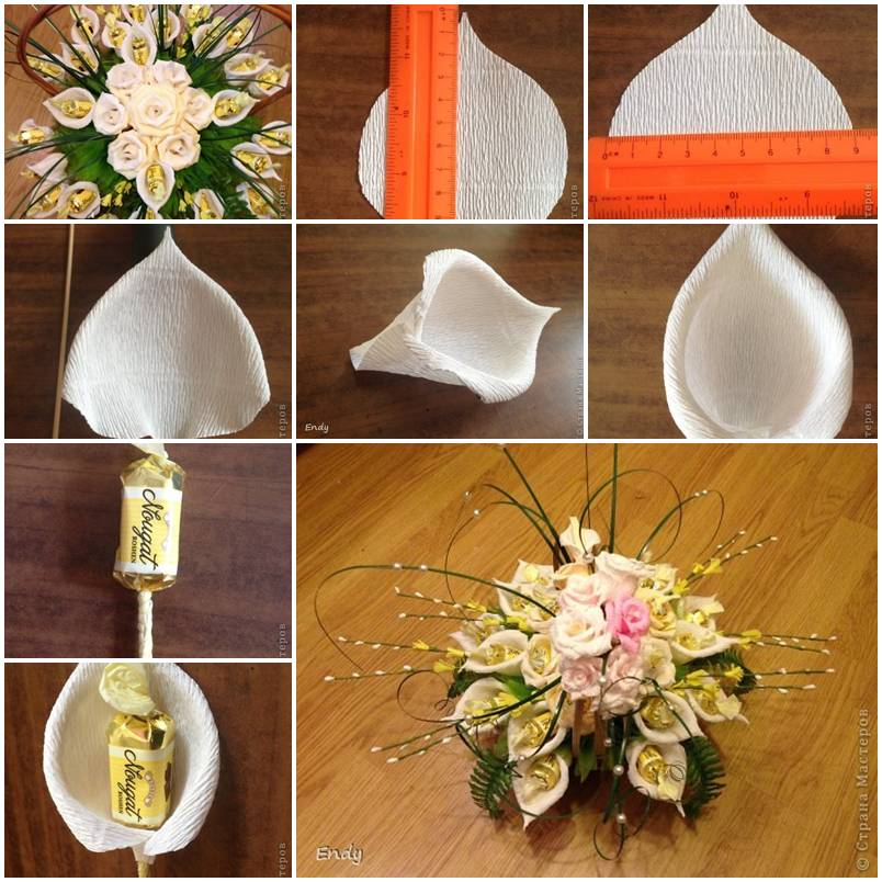 How To Make Callas Candy Flower Step By Step Diy Tutorial