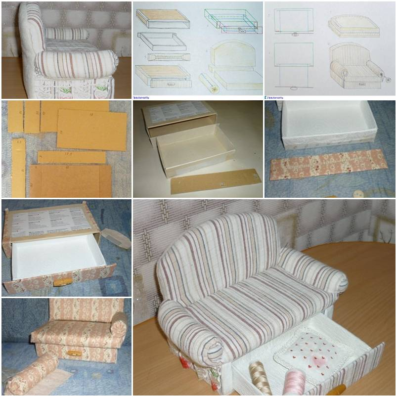 How To Make Cardboard Sofa With Drawer Storage Unit Step