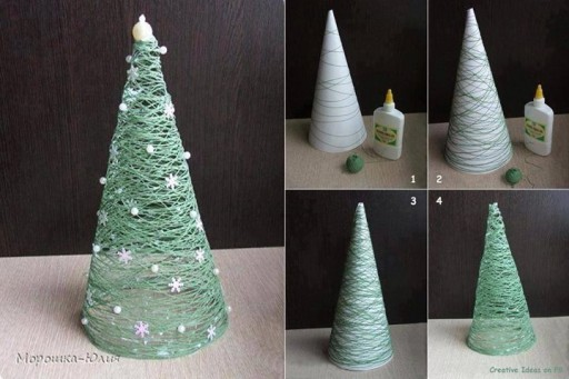 How to make Christmas tree lighting decoration step by step DIY tutorial instructions