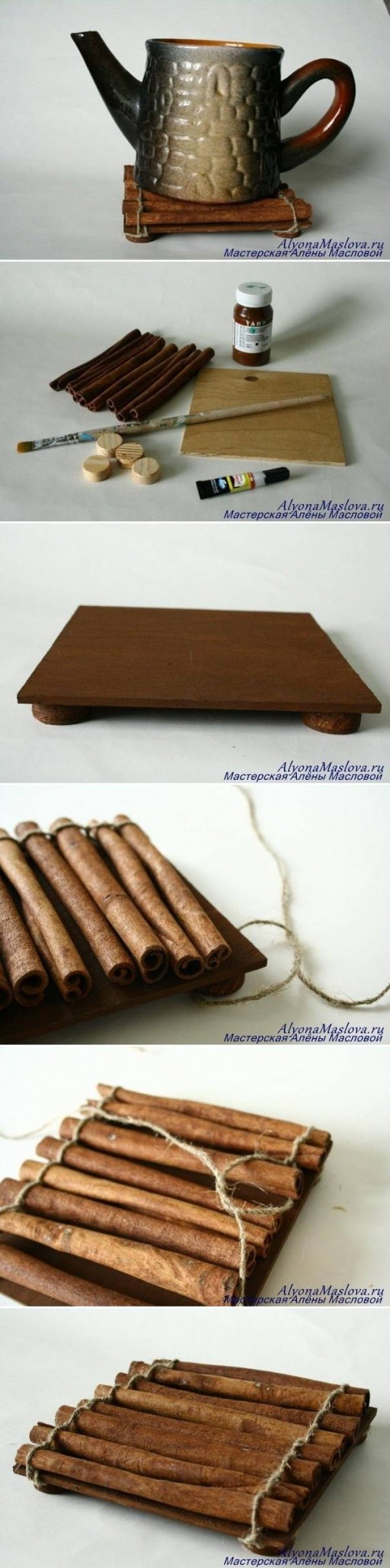 How to make Cinnamon Sticks Fragrant Stand step by step DIY tutorial instructions