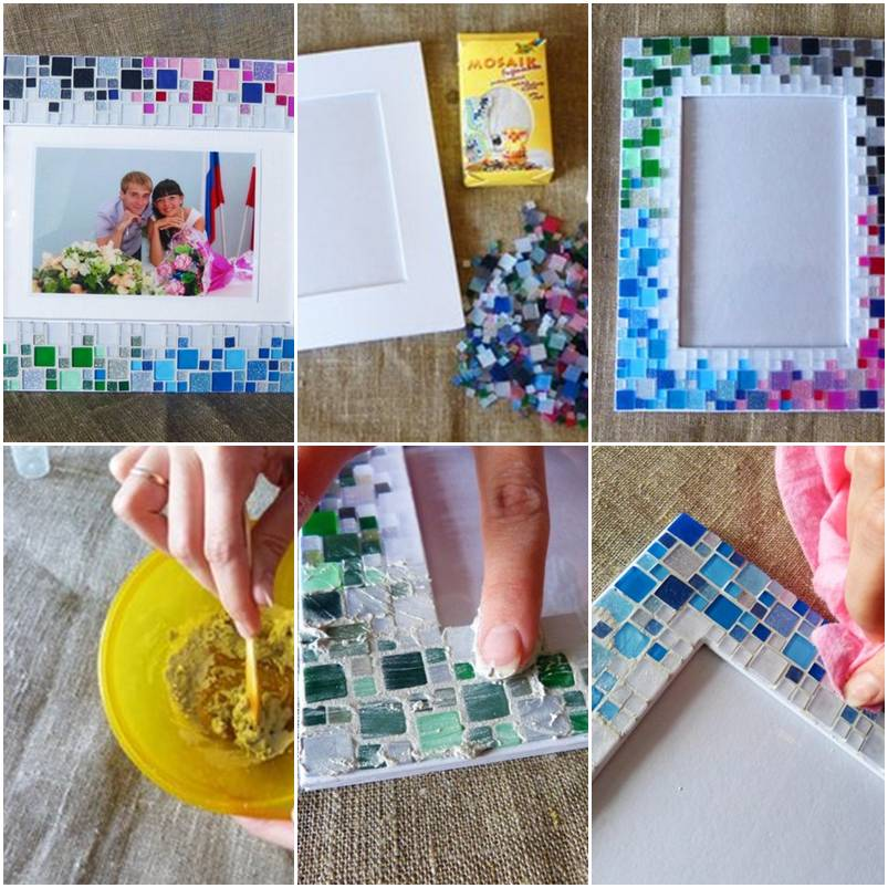 How To Make Colorful Mosaic Picture Collage Photoframe