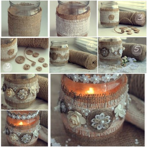 How to make Custom Vintage Candle Holder step by step DIY tutorial instructions thumb