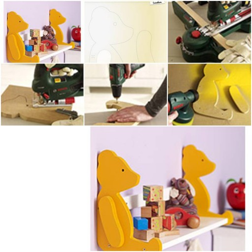 How to make Cute Bear Storage Shelves step by step DIY tutorial instructions thumb
