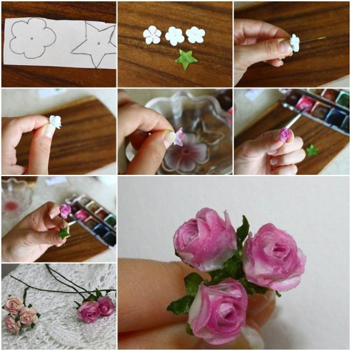 How to make Delicate Mini Roses step by step DIY tutorial instructions thumb