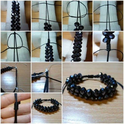 How to make Dual Shambhala Bracelet step by step DIY tutorial instructions thumb