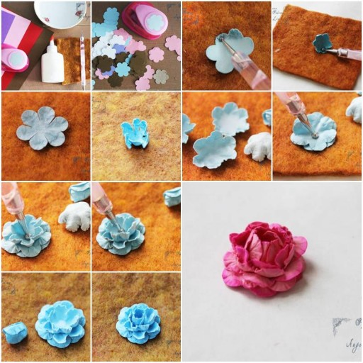 How to make Flowers Made of Paper step by step DIY tutorial instructions thumb