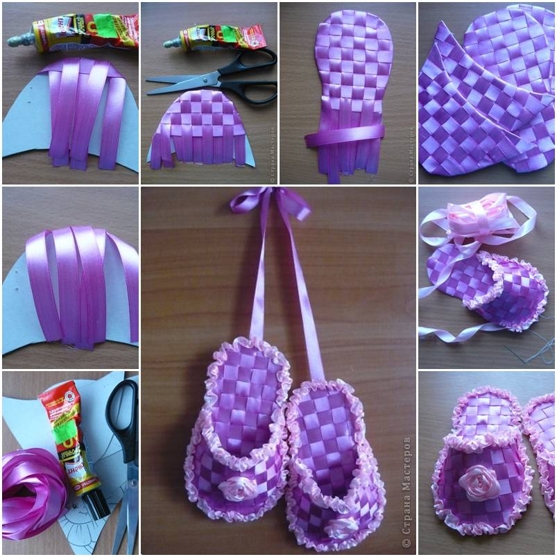 How To Make Gift Ribbon Slippers Step By DIY Tutorial Instructions Thumb