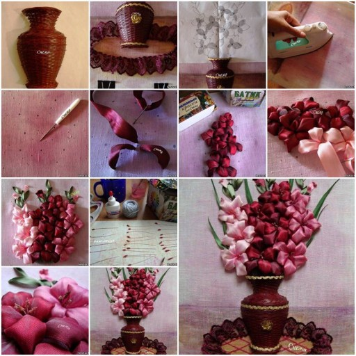 How to make Gladioli in a Vase step by step DIY tutorial instructions thumb