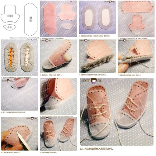 How to make little doll shoes step by step diy tutorial for Step by step to build a house yourself