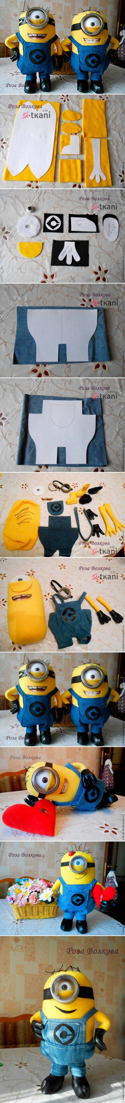 How to make Minion toy Doll step by step DIY tutorial instructions