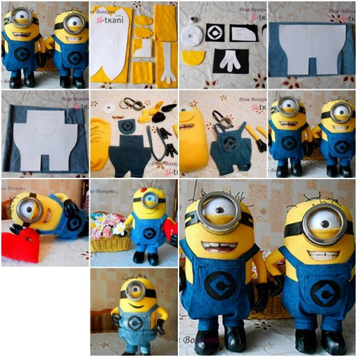 How to make Minion toy Doll step by step DIY tutorial instructions thumb