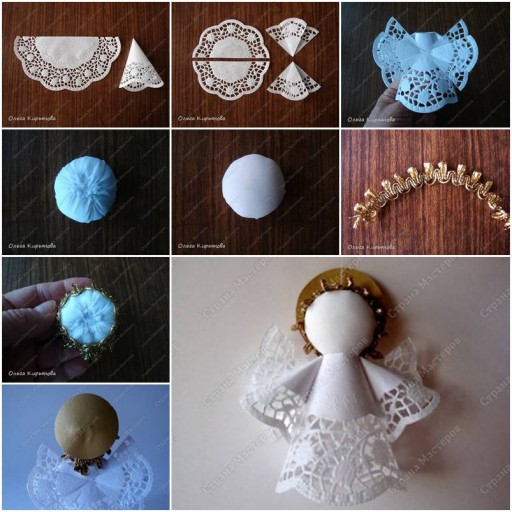 How to make Napkin Angel step by step DIY tutorial instructions thumb