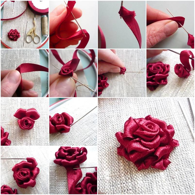 how to make a palm rose step by step