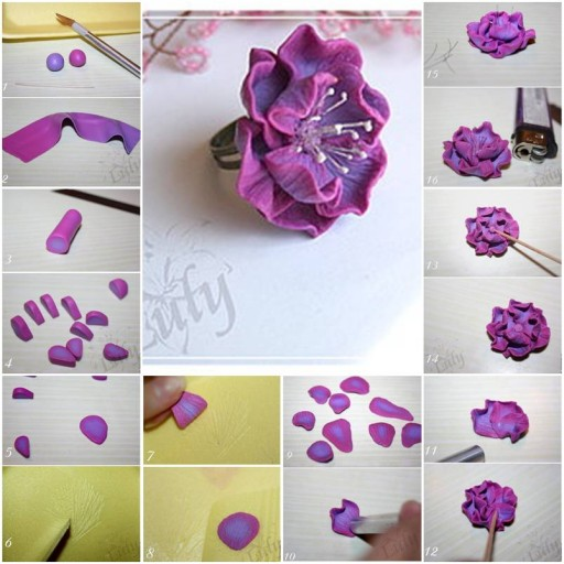 How to make Nice Polymer Clay Flower arrangements step by step DIY tutorial instructions thumb