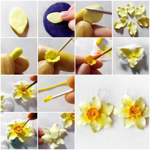 How to make Pale Yellow Daffodils step by step DIY tutorial instructions thumb