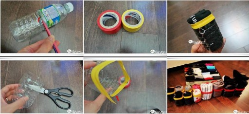 More DIY Ideas u003cu003c & How to make Plastic Water Bottle Underwear Storage Units step by ...