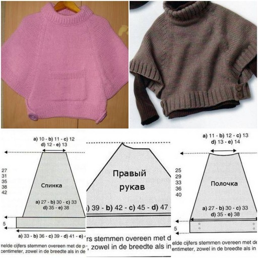 How to make Poncho as Girl clothing step by step DIY tutorial instructions thumb