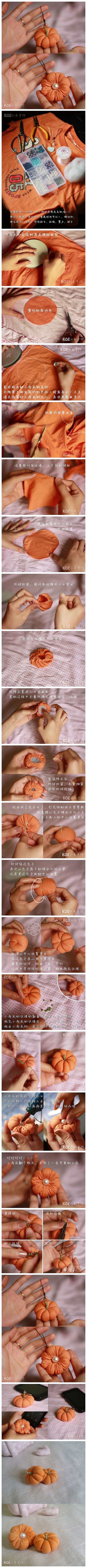 How to make Pumpkin like custom Christmas ornaments with T-Shirt step by step DIY tutorial instructions