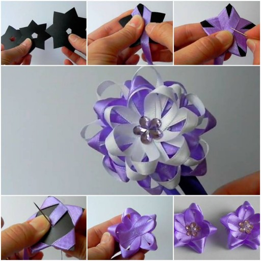 How to make Quick Flower Bow step by step DIY tutorial instructions thumb