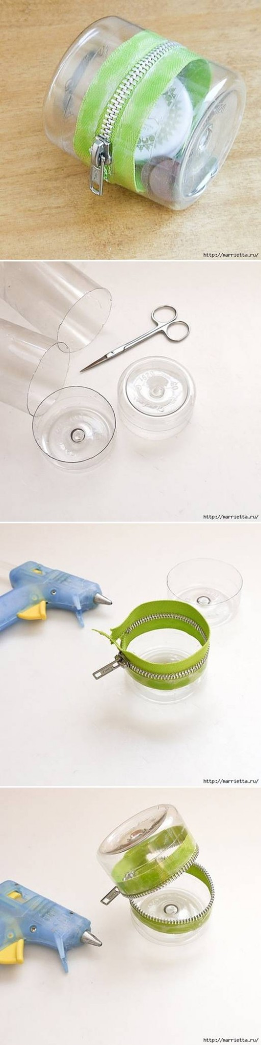 How to make Simple Plastic water Bottle Storage Box step ...
