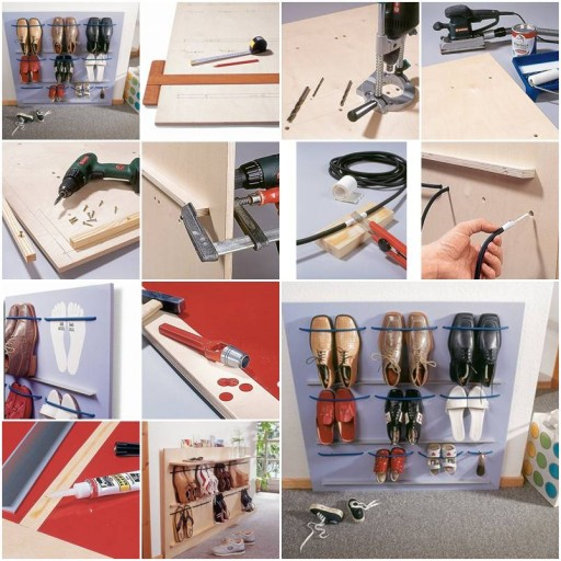 How to make Space Saving Shoes Rack step by step DIY tutorial instructions thumb